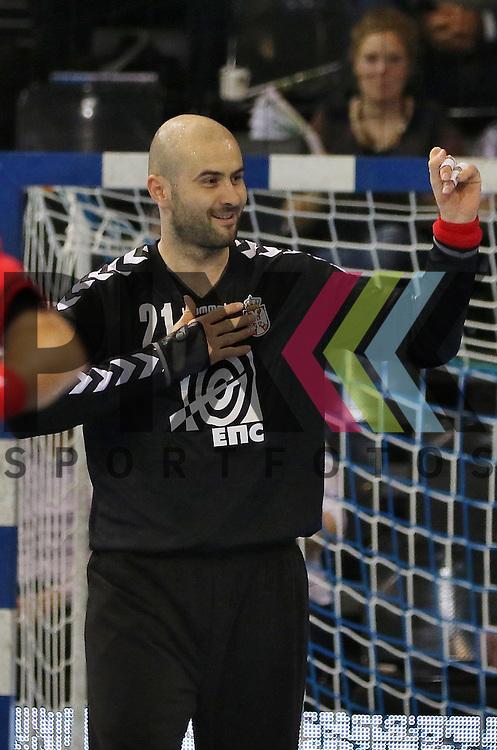 Flensburg, 06.11.15, Sport, Handball Supercup 2015, Serbien-Slowenien : Obrad Ivezic (Serbien, #21)<br /> <br /> Foto &copy; PIX-Sportfotos *** Foto ist honorarpflichtig! *** Auf Anfrage in hoeherer Qualitaet/Aufloesung. Belegexemplar erbeten. Veroeffentlichung ausschliesslich fuer journalistisch-publizistische Zwecke. For editorial use only.
