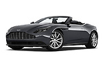 Stock pictures of low aggressive front three quarter view of 2019 Aston Martin DB11-Volante - 2 Door Convertible Low Aggressive