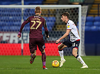 Bolton Wanderers' Joe Williams competing with Swansea City's Jay Fulton<br /> <br /> Photographer Andrew Kearns/CameraSport<br /> <br /> The EFL Sky Bet Championship - Bolton Wanderers v Swansea City - Saturday 10th November 2018 - University of Bolton Stadium - Bolton<br /> <br /> World Copyright © 2018 CameraSport. All rights reserved. 43 Linden Ave. Countesthorpe. Leicester. England. LE8 5PG - Tel: +44 (0) 116 277 4147 - admin@camerasport.com - www.camerasport.com