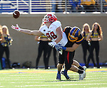 BROOKINGS, SD - OCTOBER 22:  Nick Mears #42 from South Dakota State University breaks up a pass intended for Jacob Wood #88 from Youngstown State in the first half of their game Saturday afternoon at Dana J. Dykhouse Stadium in Brookings. (Photo by Dave Eggen/Inertia)