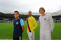 Pictured: Neil Taylor, Chico Flores and Michu<br />