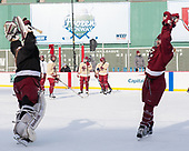 Katie Burt (BC - 33), Delaney Belinskas (BC - 17) - The Boston College Eagles practiced at Fenway on Monday, January 9, 2017, in Boston, Massachusetts.Katie Burt (BC - 33), Delaney Belinskas (BC - 17) - The Boston College Eagles practiced at Fenway on Monday, January 9, 2017, in Boston, Massachusetts.