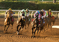 ARCADIA, CA  MARCH 11:#1 Midnight Storm, ridden by Rafael Bejarano,  with eventual winner #3 Shaman Ghost, ridden by Javier Castellano, stalking him going into the stretch of the Santa Anita Handicap (Grade l),on March 11, 2017 at Santa Anita Park in Arcadia, CA (Photo by Casey Phillips/Eclipse Sportswire/Getty Images)ARCADIA, CA  MARCH 11:#1 Midnight Storm, ridden by Rafael Bejarano, in the lead, with eventual winner #3 Shaman Ghost, ridden by Javier Castellano, stalking him going into the stretch of the Santa Anita Handicap (Grade l),on March 11, 2017 at Santa Anita Park in Arcadia, CA (Photo by Casey Phillips/Eclipse Sportswire/Getty Images)