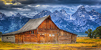 Moulton Barn Sunset 2 - Wyoming - Grand Teton NP