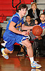 Kyle DeVerna #22 of Kellenberg looks to get inside the paint during a non-league varsity boys' basketball game against Long Beach at Freeport High School on Monday, Jan. 18, 2016. He scored a game-high 30 points in Kellenberg's 71-62 win.