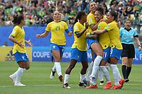 Joie de Christiane (bresil) et de sse coequipieres<br /> Grenoble 09-06-2019 <br /> Football Womens World Cup <br /> Brazil - Jamaica <br /> Brasile - Giamaica<br /> Photo Frederic Chambert / Panoramic/Insidefoto <br /> ITALY ONLY