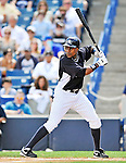 5 March 2011: New York Yankees' outfielder Curtis Granderson in action during a Spring Training game against the Washington Nationals at George M. Steinbrenner Field in Tampa, Florida. The Nationals defeated the Yankees 10-8 in Grapefruit League action. Mandatory Credit: Ed Wolfstein Photo