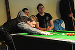 Chris Matthews playing in the Irish Pool Association Tour in the Boyne Valley hotel. Photo: Colin Bell/pressphotos.ie