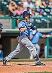 14 March 2016: Tampa Bay Rays infielder Andrew Velazquez, ranked the 29th Top Prospect in the Rays organization for 2016 by MLB, in action during a pre-season Spring Training game against the Atlanta Braves at Champion Stadium in the ESPN Wide World of Sports Complex in Kissimmee, Florida. The Ray fell to the Braves 5-0 in Grapefruit League play. Mandatory Credit: Ed Wolfstein Photo *** RAW (NEF) Image File Available ***