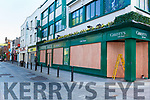 Christy's Gift Shop on High Street Killarney have boarded up their windows