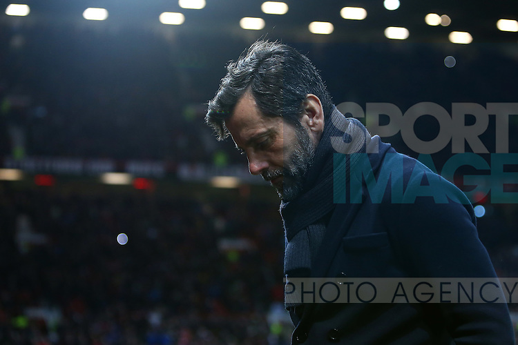 Quique Flores, manager of Watford - Barclay's Premier League - Manchester United vs Watford - Old Trafford - Manchester - 02/03/2016 Pic Philip Oldham/SportImage