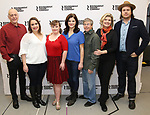 "Mark Blum, Vanessa Aspillaga, Jamie Brewer, Diane Davis, Edward Barbanell, Debra Monk, and Josh McDermitt attends the Meet & Greet for the cast of ""Amy and the Orphans"" at the Roundabout Theatre rehearsal hall on January 10, 2018 in New York City."
