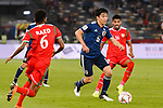 Endo Wataru of Japan (C) in action during the AFC Asian Cup UAE 2019 Group F match between Oman (OMA) and Japan (JPN) at Zayed Sports City Stadium on 13 January 2019 in Abu Dhabi, United Arab Emirates. Photo by Marcio Rodrigo Machado / Power Sport Images