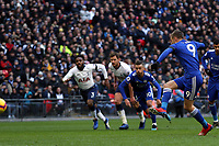 Jamie Vardy of Leicester City sees his penalty saved during Tottenham Hotspur vs Leicester City, Premier League Football at Wembley Stadium on 10th February 2019