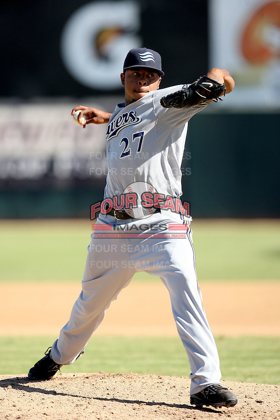 Jeremy Jeffress - Surprise Rafters - 2010 Arizona Fall League.Photo by:  Bill Mitchell/Four Seam Images..