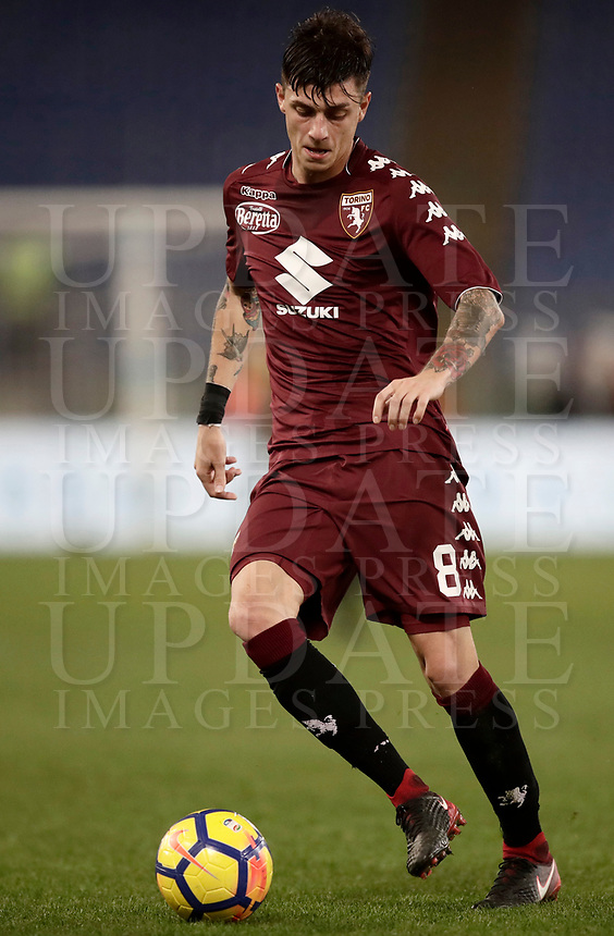 Calcio, Serie A: Roma, stadio Olimpico, 11 dicembre 2017.<br /> Torino's Daniele Baselli in action with during the Italian Serie A football match between Lazio and Torino at Rome's Olympic stadium, December 11, 2017.<br /> UPDATE IMAGES PRESS/Isabella Bonotto