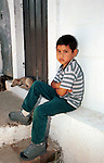 Boy and dog El Salvador Central America, Fine Art Photography by Ron Bennett, Fine Art, Fine Art photography, Art Photography, Copyright RonBennettPhotography.com ©