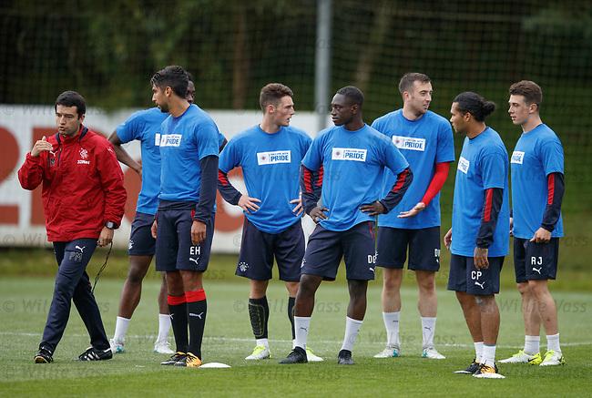 Pedro Malta with Lalo Herrera, Joe Dodoo, Jordan Thompson, Dalcio Gomes, Danny Wilson, Carlos Pena and Ryan Jack