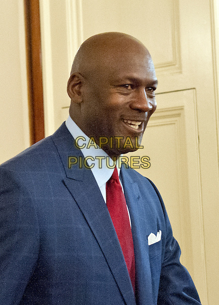 Former NBA star Michael Jordan arrives to accept Presidential Medal of Freedom, the Nation&iacute;s highest civilian honor, from United States President Barack Obama in the East Room of the White House in Washington, DC on November 22, 2016.<br /> CAP/MPI/RS<br /> &copy;RS/MPI/Capital Pictures