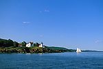 View of Curtis Island Lighthouse in Camden, Maine, USA