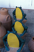Ceramic frogs in El Valle market , Panama