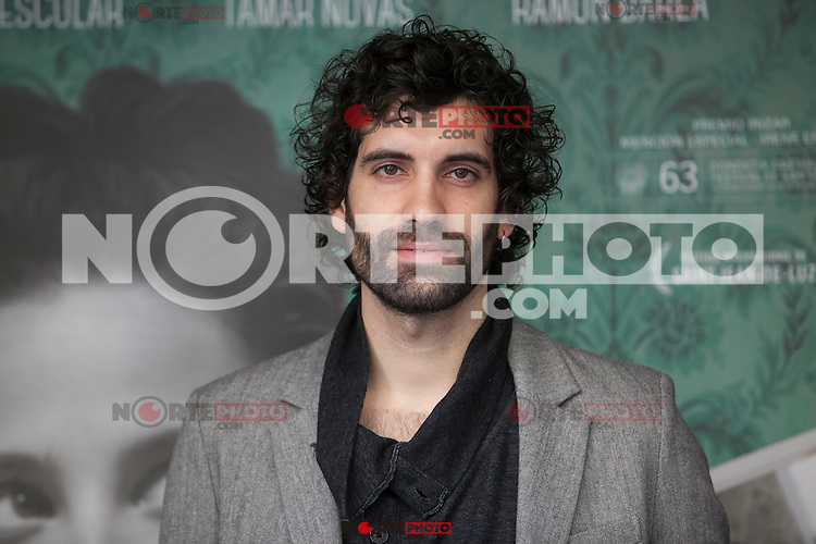 Actor Tamar Novas poses during `Un otono sin Berlin´ film presentation in Madrid, Spain. November 10, 2015. (ALTERPHOTOS/Victor Blanco)