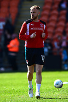Fleetwood Town's Paddy Madden warms up<br /> <br /> Photographer Richard Martin-Roberts/CameraSport<br /> <br /> The EFL Sky Bet League One - Blackpool v Fleetwood Town - Saturday 14th April 2018 - Bloomfield Road - Blackpool<br /> <br /> World Copyright &not;&copy; 2018 CameraSport. All rights reserved. 43 Linden Ave. Countesthorpe. Leicester. England. LE8 5PG - Tel: +44 (0) 116 277 4147 - admin@camerasport.com - www.camerasport.com
