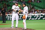 (L to R) .Tetsuya Yamaguchi (JPN), .Hayato Sakamoto (JPN), .MARCH 3, 2013 - WBC : .2013 World Baseball Classic .1st Round Pool A .between Japan 5-2 China .at Yafuoku Dome, Fukuoka, Japan. .(Photo by YUTAKA/AFLO SPORT)