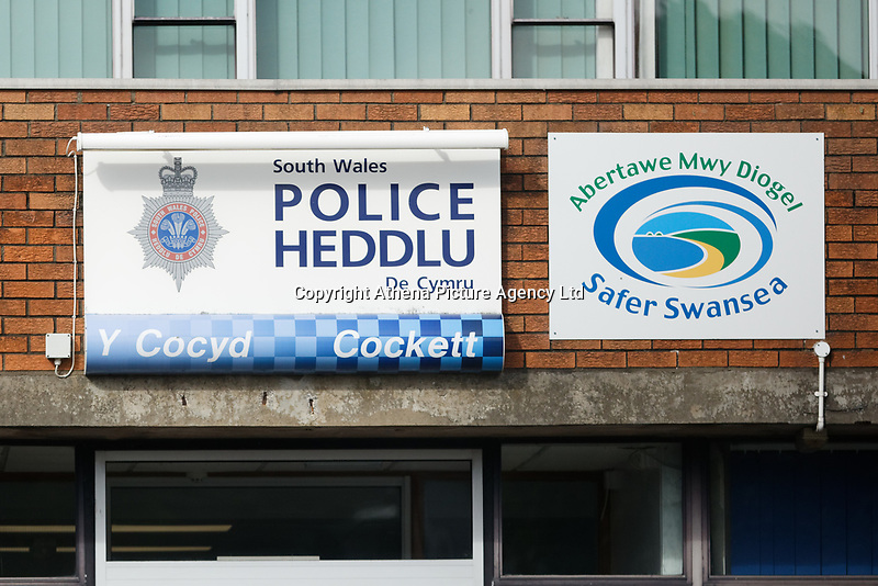Pictured: Cockett Police STation in Swansea, Wales, UK.<br /> Re: South Wales Police officer Ricky Price has resigned after having sex with solicitor Rachel Pudner at Cockett Police Station in Swansea, Wales, UK.