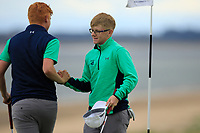 Allan Hill &amp; David Kitt of Ireland during Day 2 / Foursomes of the Boys' Home Internationals played at Royal Dornoch Golf Club, Dornoch, Sutherland, Scotland. 08/08/2018<br /> Picture: Golffile | Phil Inglis<br /> <br /> All photo usage must carry mandatory copyright credit (&copy; Golffile | Phil Inglis)