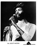 Gil Scott-Heron on Arista<br /> photo from promoarchive.com/ Photofeatures