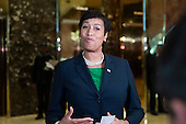 Mayor Muriel Bowser (Democrat of Washington, DC) speaks with members of the press in the lobby Trump Tower in New York, NY, USA following her meeting with United States President-elect Donald Trump on December 6, 2016. <br /> Credit: Albin Lohr-Jones / Pool via CNP