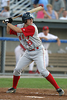 July 25, 2005:  First Baseman Nick Evans of the Brooklyn Cyclones during a game at Dwyer Stadium in Batavia, NY.  Brooklyn is the NY-Penn League Class-A affiliate of the New York Mets.  Photo by:  Mike Janes/Four Seam Images