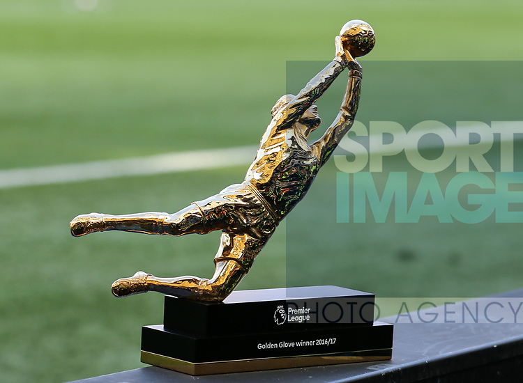 The Premier League golden glove trophy during the Premier League match at Stamford Bridge Stadium, London. Picture date: May 18th, 2017. Pic credit should read: David Klein/Sportimage