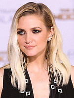 LOS ANGELES, CA, USA - NOVEMBER 17: Ashlee Simpson arrives at the Los Angeles Premiere Of Lionsgate's 'The Hunger Games: Mockingjay, Part 1' held at Nokia Theatre L.A. Live on November 17, 2014 in Los Angeles, California, United States. (Photo by Rudy Torres/Celebrity Monitor)