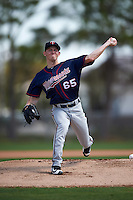 Minnesota Twins Tyler Jay (65) during a minor league Spring Training game against the Baltimore Orioles on March 16, 2016 at CenturyLink Sports Complex in Fort Myers, Florida.  (Mike Janes/Four Seam Images)