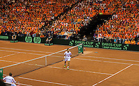 14-sept.-2013,Netherlands, Groningen,  Martini Plaza, Tennis, DavisCup Netherlands-Austria, Doubles,   Dutch Supporters<br /> Photo: Henk Koster