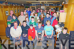 Windy conditions didn't put off these sailors as they competed in the Kerry Inter Club Regatta for the E&D Trophy held in Cahersiveen on Saturday.  Pictured here at the prize giving in The Ring of Kerry Hotel  were competitors with winners seated front l-r; Ian Magowan 3rd, Gavan Walsh 4th, Brian Fox1st Optimist Class, Tadhg O Loingsigh 1st E&D Cup, Michael Magowan 2nd Michea?l Murphy winner Topaz Cat.