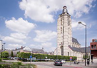 the St-Walburga church is the most recognisable Oudenaarde landmark<br /> <br /> cycling hotspots & impressions in the Vlaamse Ardennen (Flemish Ardennes) along the 181km Spartacus (Chasing Cancellara) cycling route<br /> <br /> Cycling In Flanders <br /> Flanders Tourist Board<br /> <br /> ©kramon