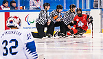 PyeongChang 15/3/2018 - Pregame as Canada takes on Korea in semifinal hockey action at the Gangneung Hockey Centre during the 2018 Winter Paralympic Games in Pyeongchang, Korea. Photo: Dave Holland/Canadian Paralympic Committee