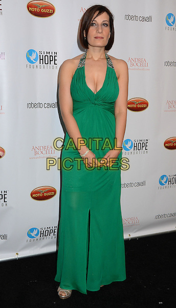 Elisabetta Russo<br /> Simin Hope Foundation presents &quot;A Celebration of All Fathers? Gala with a special appearance by Andrea Bocelli at Paramount Studios in Hollywood,  Santa Monica, CA, USA, 2nd June 2013.<br /> full length green dress cleavage long maxi halterneck <br /> CAP/ADM/BT<br /> &copy;Birdie Thompson/AdMedia/Capital Pictures