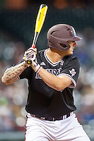 Texas A&M Aggies first baseman Logan Nottebrok (8) at bat during the Houston College Classic against the Baylor Bears on March 8, 2015 at Minute Maid Park in Houston, Texas. Texas A&M defeated Baylor 3-2. (Andrew Woolley/Four Seam Images)