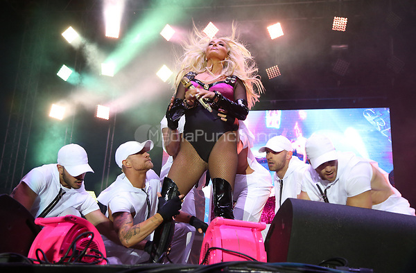 WEST HOLLYWOOD, CA June 11- Erika Jayne, at LA PRIDE 2017 at West Hollywood Park, California on June 11, 2017. Credit: Faye Sadou/MediaPunch