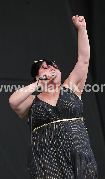 **ALL ROUND PICTURES FROM SOLARPIX.COM**.**WORLDWIDE SYNDICATION RIGHTS**.Pics show Beth Ditto and The Gossip at  The Leeds Festival on Saturday..JOB REF: 4534   SSD     DATE: 25.08.07.**MUST CREDIT SOLARPIX.COM OR DOUBLE FEE WILL BE CHARGED* *UNDER NO CIRCUMSTANCES IS THIS IMAGE TO BE REPRODUCED FOR ANY ONLINE EDITION WITHOUT PRIOR PERMISSION*