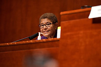 Rep. Karen Bass (D-Calif.) gives an opening statement during a House Judiciary Committee hearing to discuss police brutality and racial profiling on Wednesday, June 10, 2020.<br /> Credit: Greg Nash / Pool via CNP/AdMedia