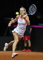Arena Loire,  Trélazé,  France, 16 April, 2016, Semifinal FedCup, France-Netherlands, Arantxa Rus (NED)<br /> Photo: Henk Koster/Tennisimages