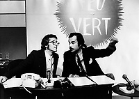Montreal (QC) CANADA  - File photo taken between 1972 and 1974 -<br /> Feu Vert radio show with Pierre Paquette and Jacques fauteux