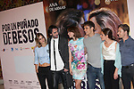 Spanish actresses Alejandra Onieva (L), Ana de Armas (3L) and Marina Salas (2R), actors Martino Rivas (3R) and Jan Cornet (R) and director David Menkel pose during `Por un punado de besos´ premiere film photocall at Palafox cinemas in Madrid, Spain. May 14, 2014. (ALTERPHOTOS/Victor Blanco)