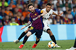 FC Barcelona's Leo Messi (l) and Valencia CF's Francis Coquelin during Spanish King's Cup Final match. May 25,2019. (ALTERPHOTOS/Carrusan)