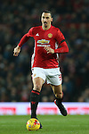 Zlatan Ibrahimovic of Manchester United during the English League Cup Quarter Final match at Old Trafford  Stadium, Manchester. Picture date: November 30th, 2016. Pic Simon Bellis/Sportimage